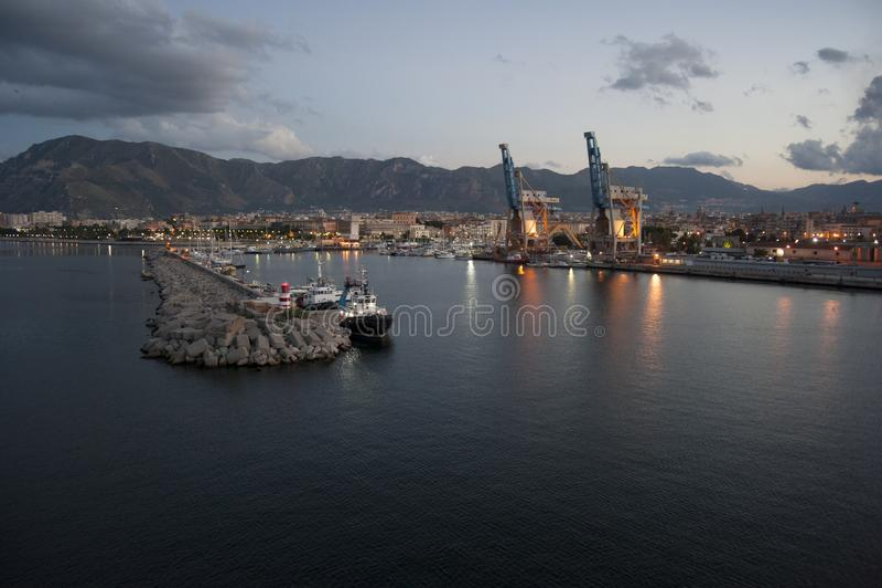 Widoku Palermo port obraz stock