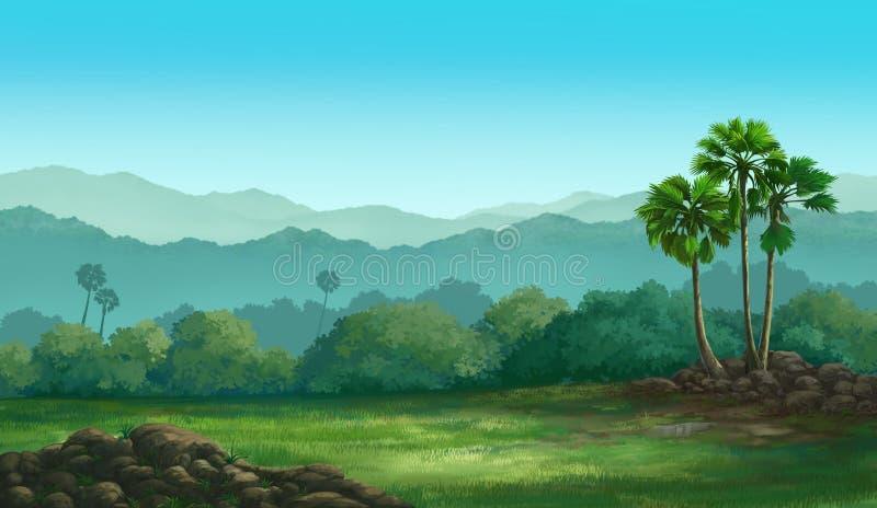 Widoku Palmyra palma ilustracja wektor