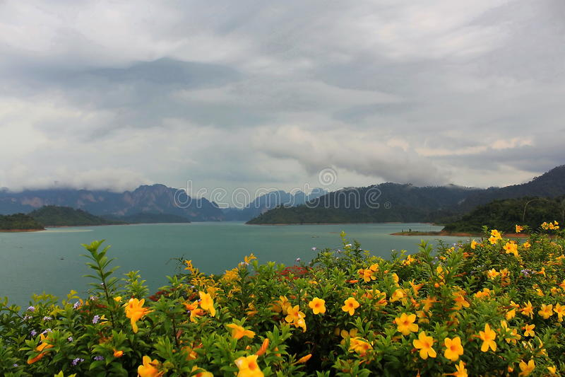 Widoku punkt od Rajjaprabha tamy fotografia stock