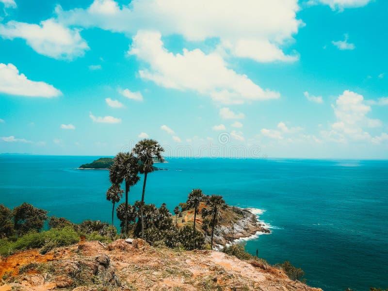 Widoku punktu Promthep przylądek, Phuket, Tajlandia obraz royalty free