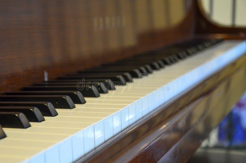 Widoku puszek pianino fotografia stock