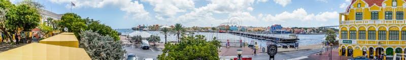Widoku puszek Punda nabrzeża Curacao widoki zdjęcia royalty free