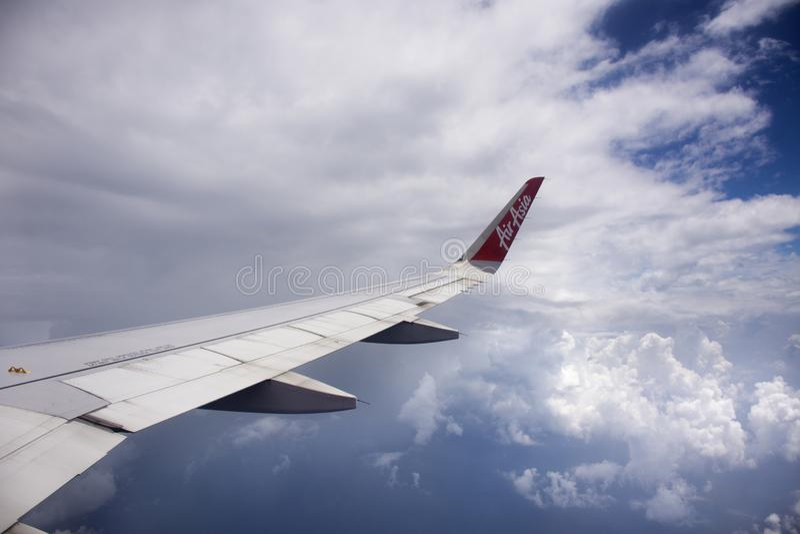 Widoku z lotu ptaka krajobraz od Airbus latania od Bangkok Hong Kong obraz royalty free