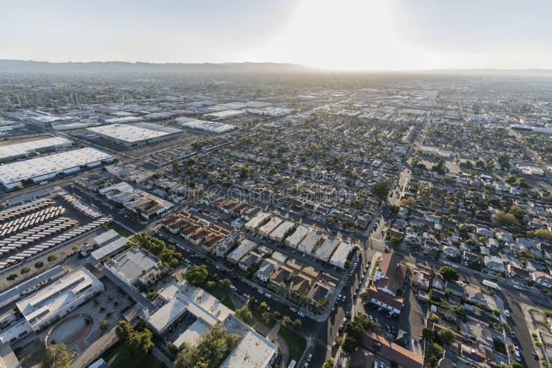 Widoku Z Lotu Ptaka Sherman sposób w Los Angeles fotografia stock
