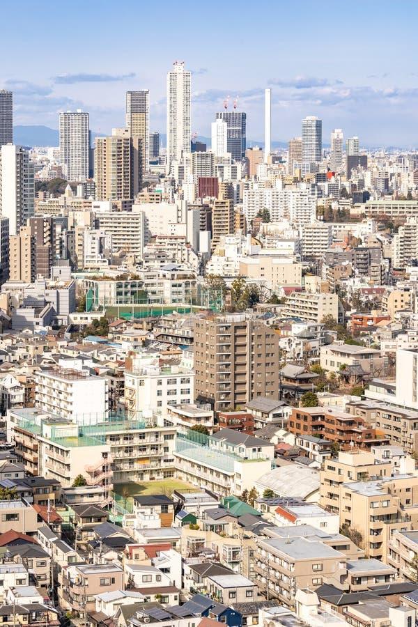 Widoku z lotu ptaka Tokio drapacz chmur shinjuku obrazy stock