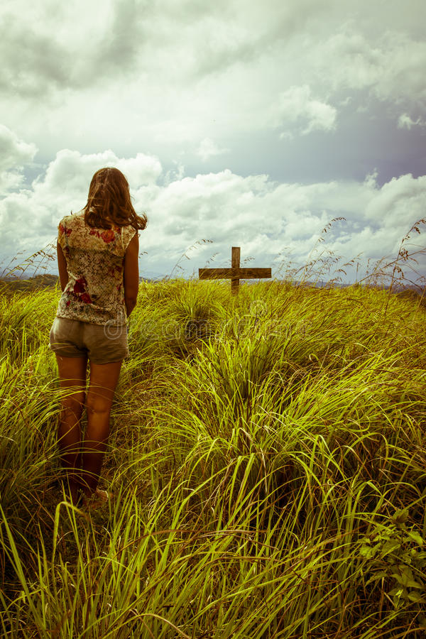 Download Widow at Grief stock image. Image of actions, bowing - 28940095