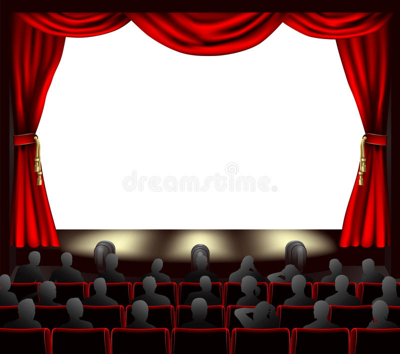 widowni kino ilustracji