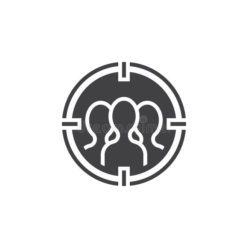 Widownia celuje ikona wektor, wypełniający mieszkanie znak, stały pictogra ilustracji