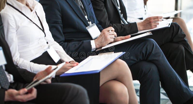 Widownia przy konferencją obrazy royalty free