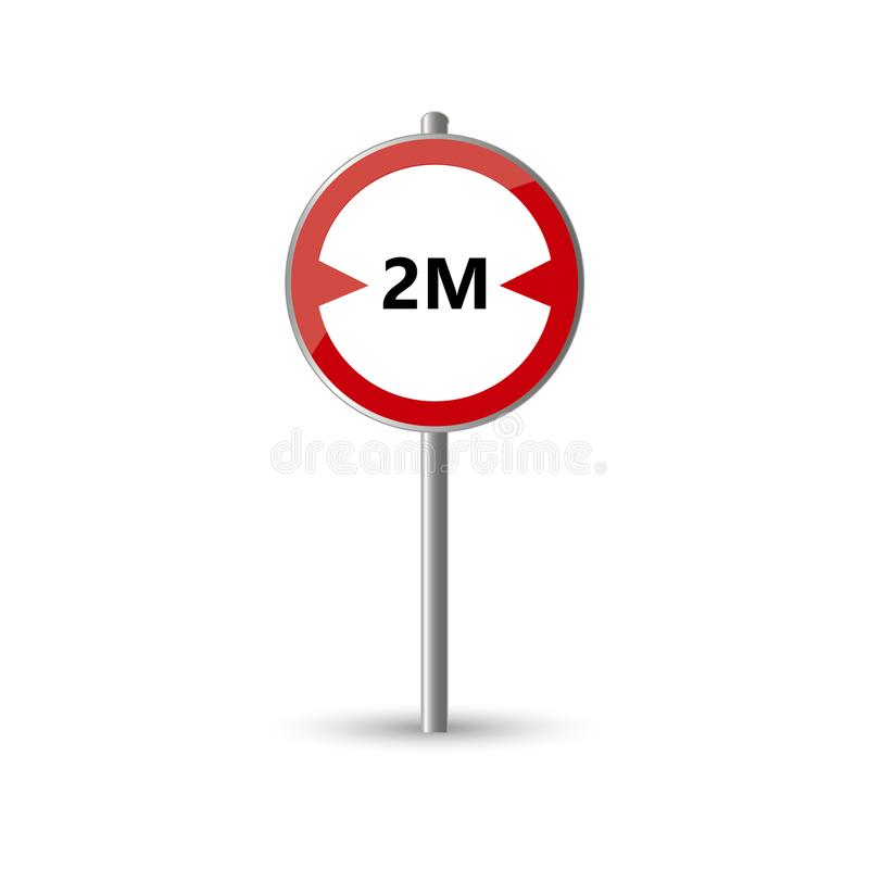 Width limit traffic sign royalty free illustration