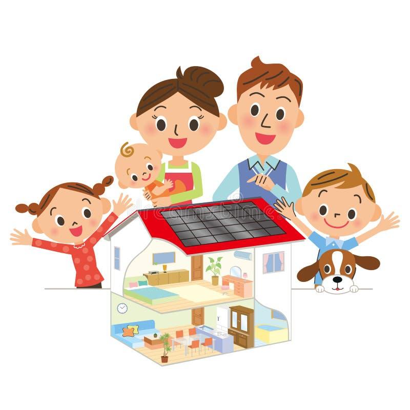 Widzię układ w rodzicu i dziecku royalty ilustracja