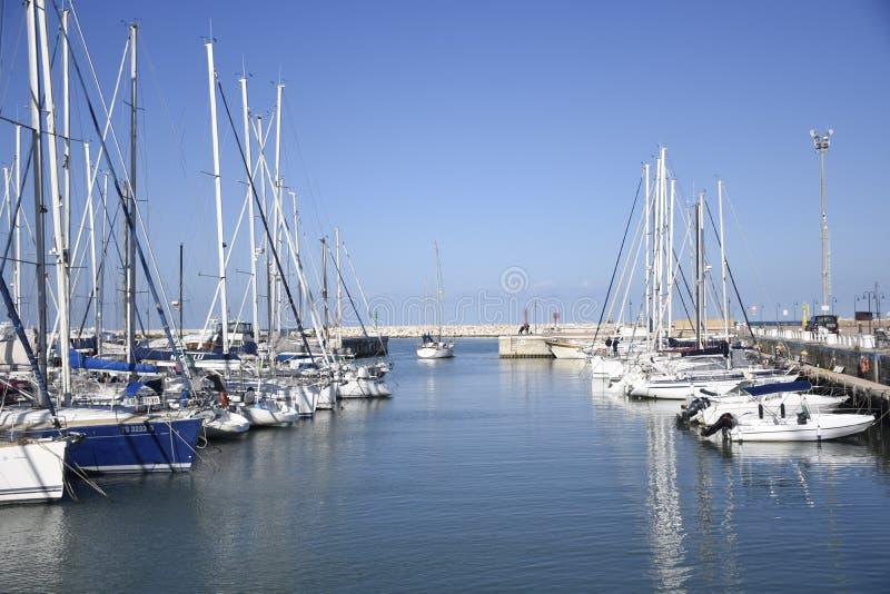 Widzii, niebo, łódź, jachty, Włochy obrazy stock