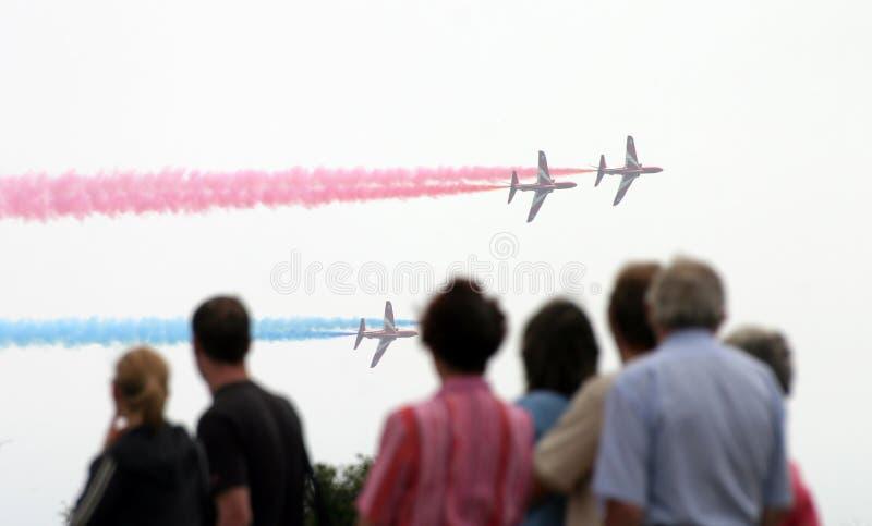 Download Widzowie airshow zdjęcie stock. Obraz złożonej z jethro - 49956