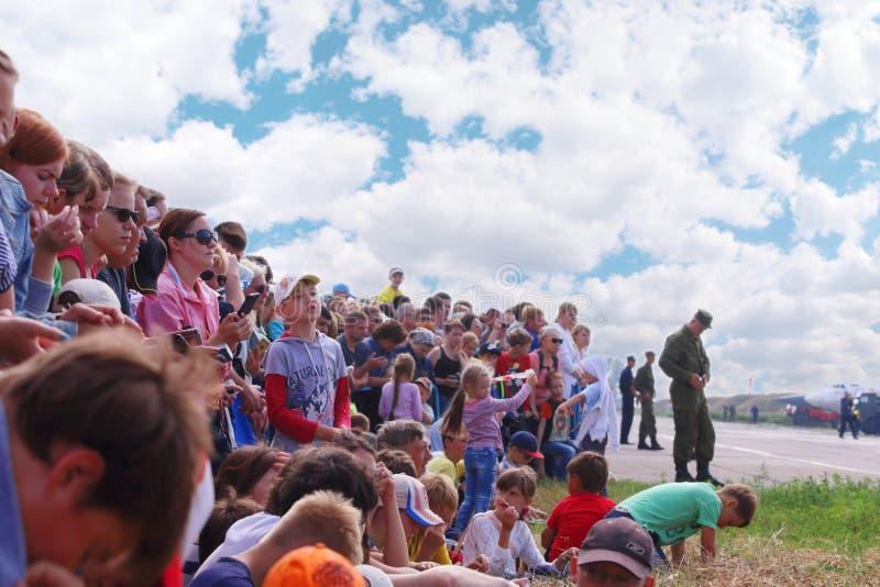 Widzowie na airshow zdjęcie stock