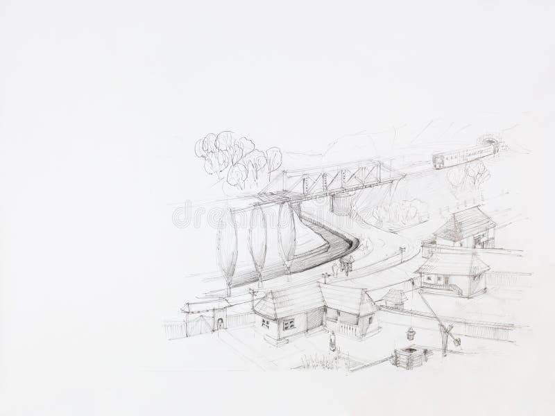 wieś ilustracja wektor
