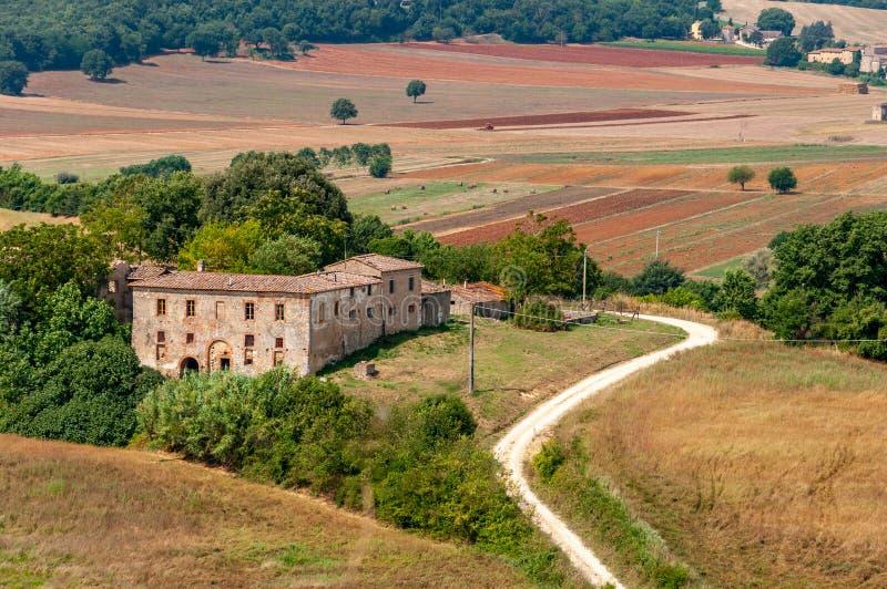 Wieś Monteriggioni, Siena, Włochy obraz royalty free