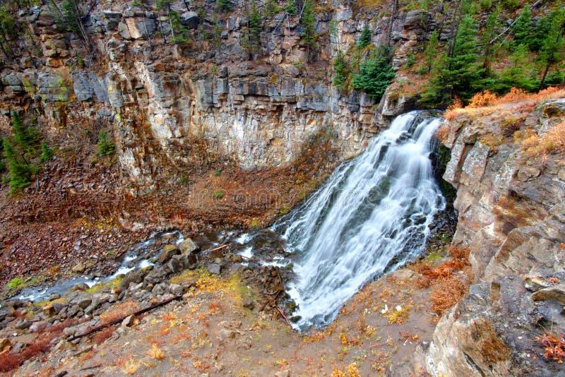 Wieśniak Spada Yellowstone park narodowy zdjęcie royalty free