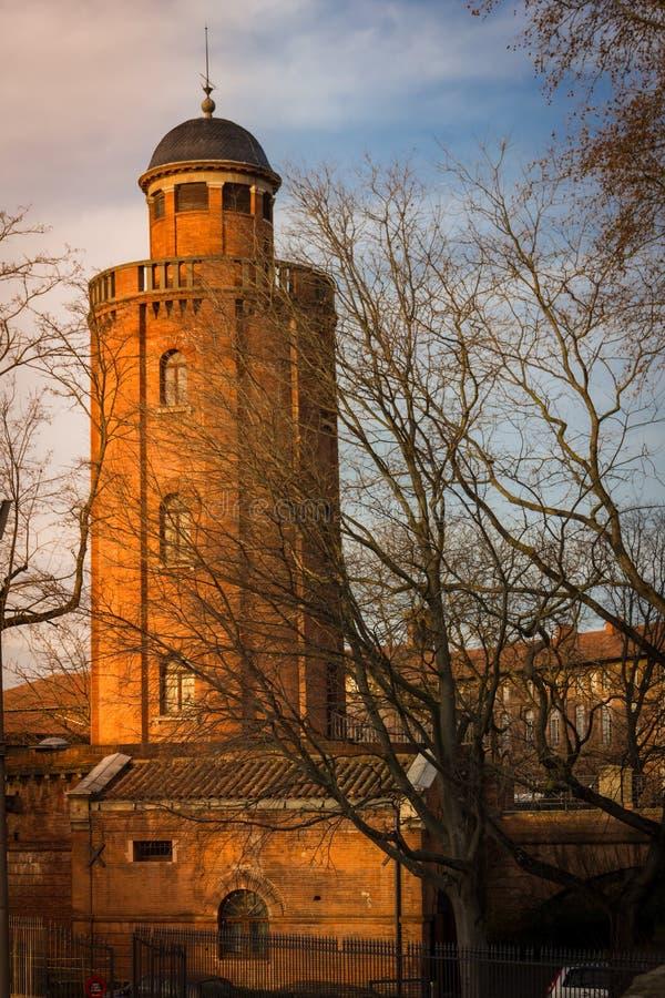 Wieża Ciśnień Górskiej chaty d' eau toulouse Francja obraz royalty free