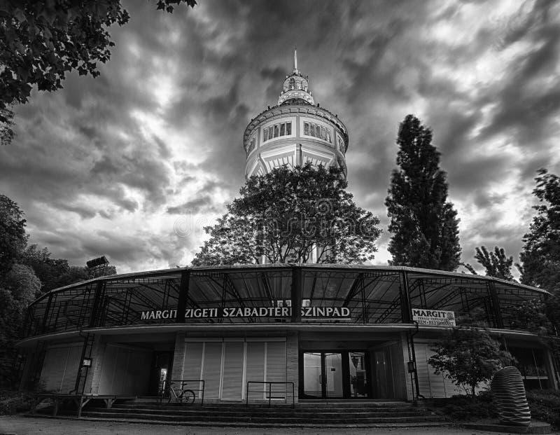 Wieża ciśnień w Margaret wyspie, Budapest obrazy stock