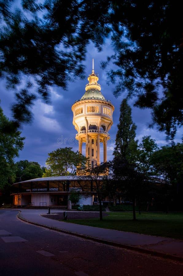Wieża ciśnień w Margaret wyspie, Budapest zdjęcia stock