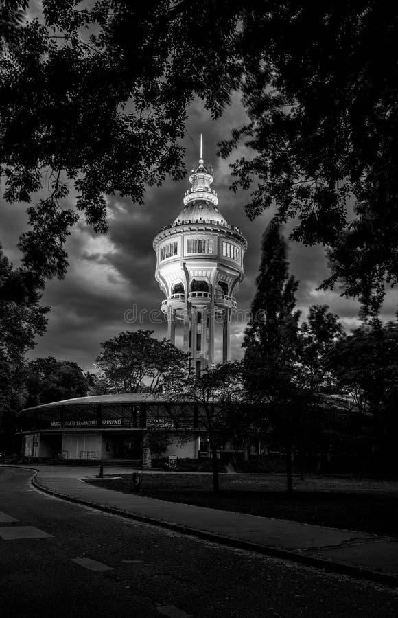 Wieża ciśnień w Margaret wyspie, Budapest obraz stock