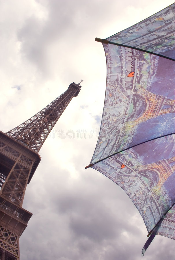 Wieża eiffel Paris parasolkę