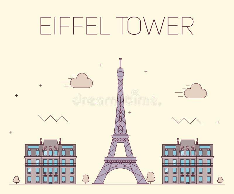 wieża eiffel Paryża Wektorowa ilustracja dalej royalty ilustracja