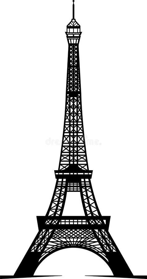 wieża eifla ilustracja wektor
