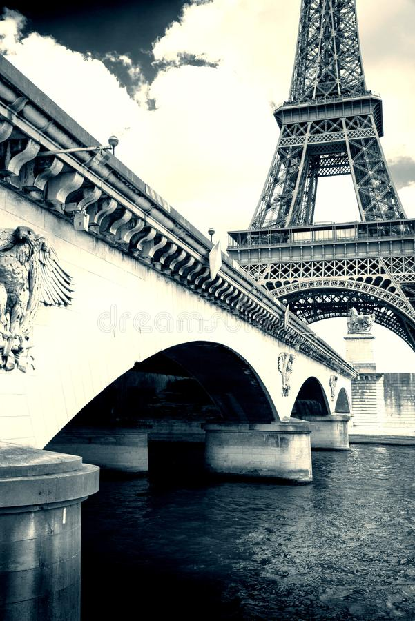 Wieża Eifla od wontonu zdjęcie stock