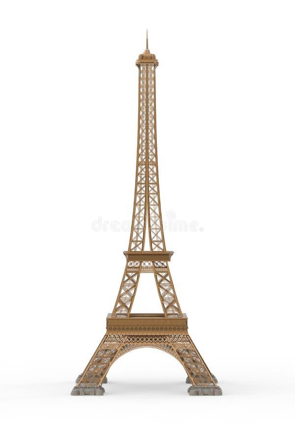 Wieża Eifla Odizolowywająca na Białym tle ilustracji