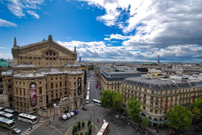 Wieża Eifla, palais garnier, niebo, miasto, punkt zwrotny, obszar miejski zdjęcie royalty free