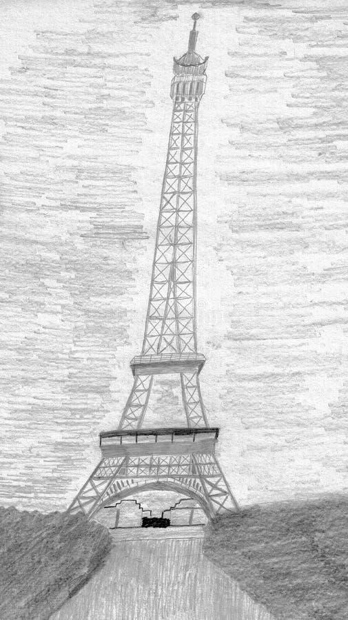 Wieża Eifla w Paryż - miasto miłość ilustracji