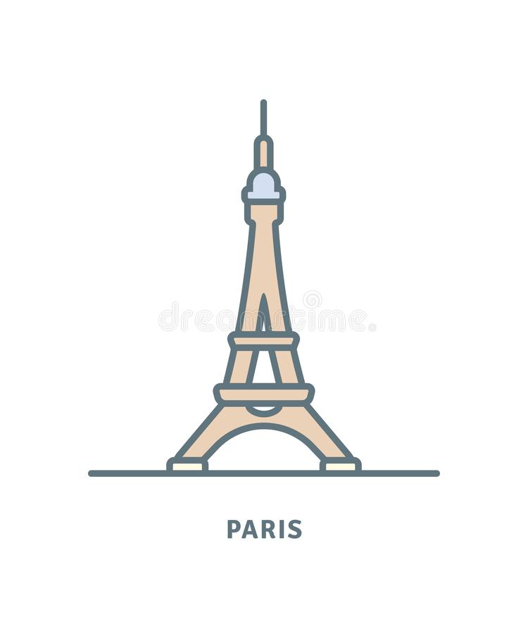Wieża Eifla wektoru ikona ilustracja wektor