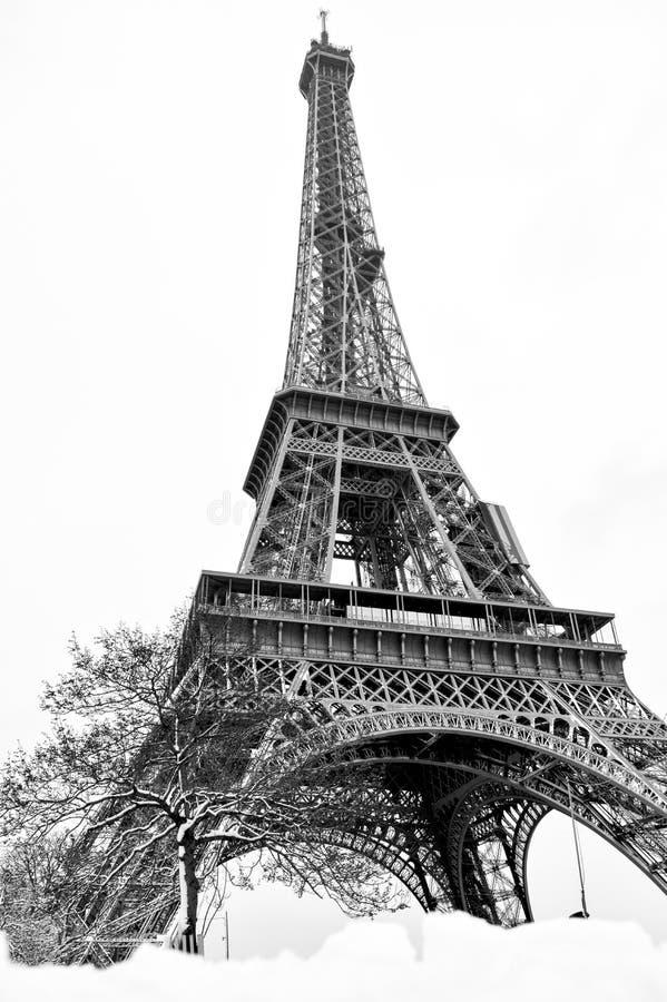 Wieża Eifla z białą salopą II obrazy royalty free