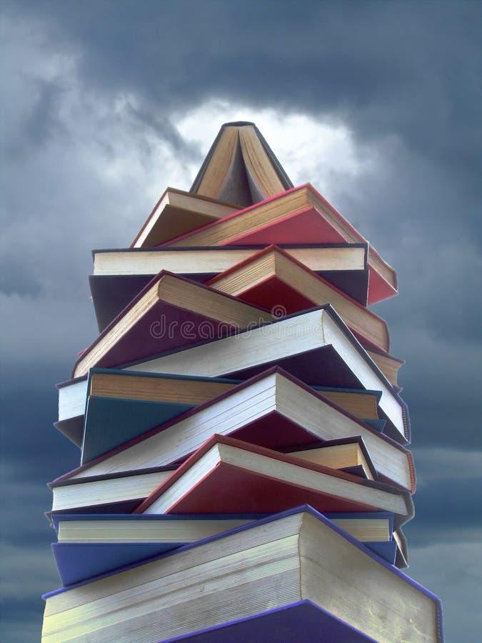 wieża książek fotografia stock