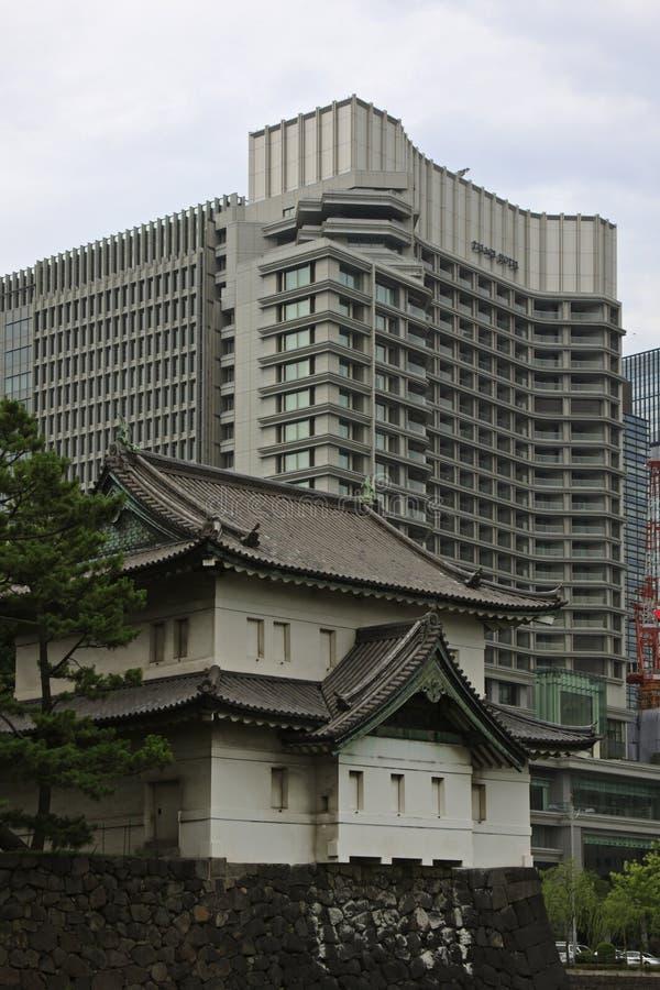 Wieża obserwacyjna Cesarski pałac, Tokio obrazy royalty free