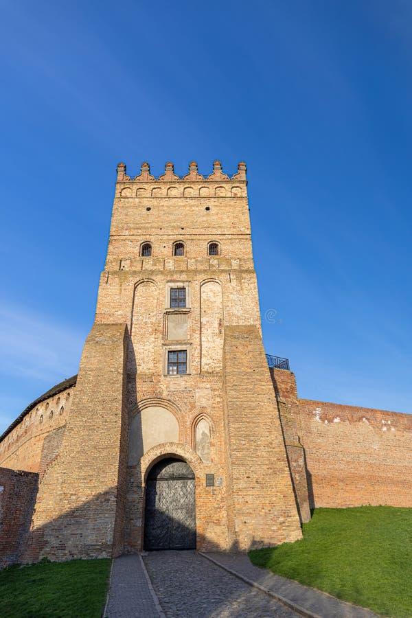 Wieża Zamku w Łucku Stara forteca Ukraina obraz royalty free
