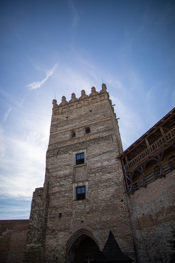 Wieża Zamku w Łucku Stara forteca Ukraina obrazy royalty free