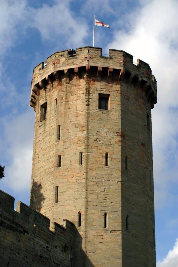 wieża zamku warwick obrazy stock