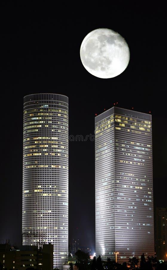 wieże azriely księżyca fotografia stock
