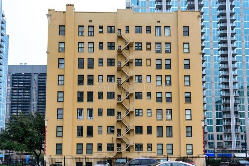 Wieżowiec w Houston w Stanach Zjednoczonych Ameryki obraz stock