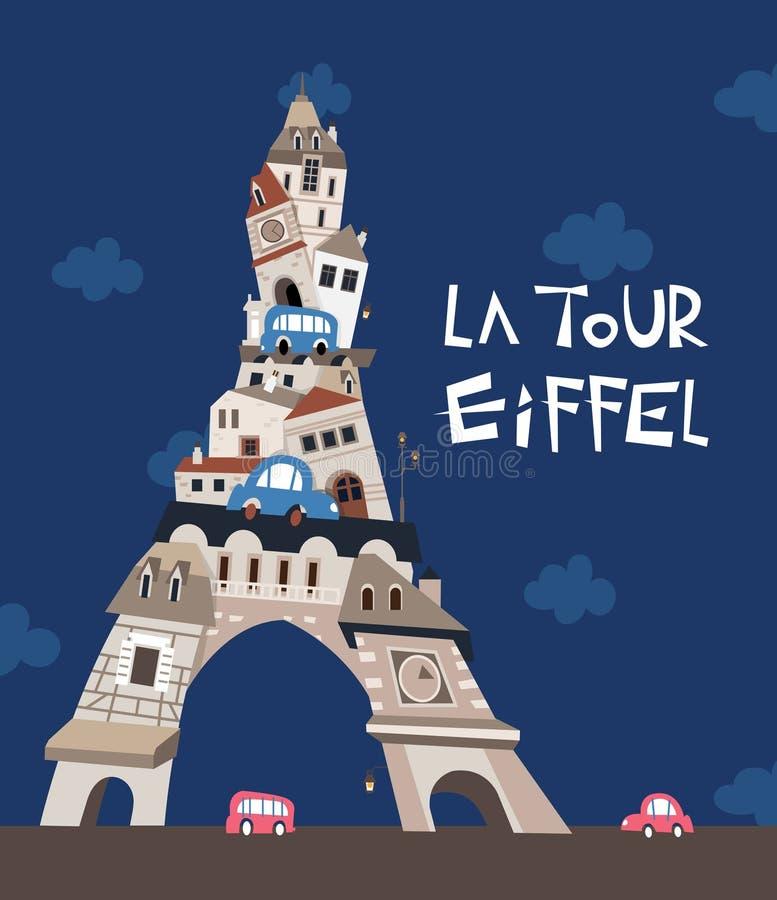 Wieży Eifla miasto ilustracja wektor