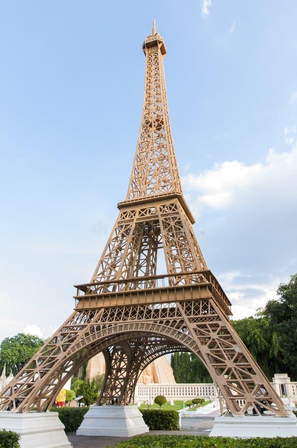 Wieży Eifla replika w mini Siam obrazy royalty free