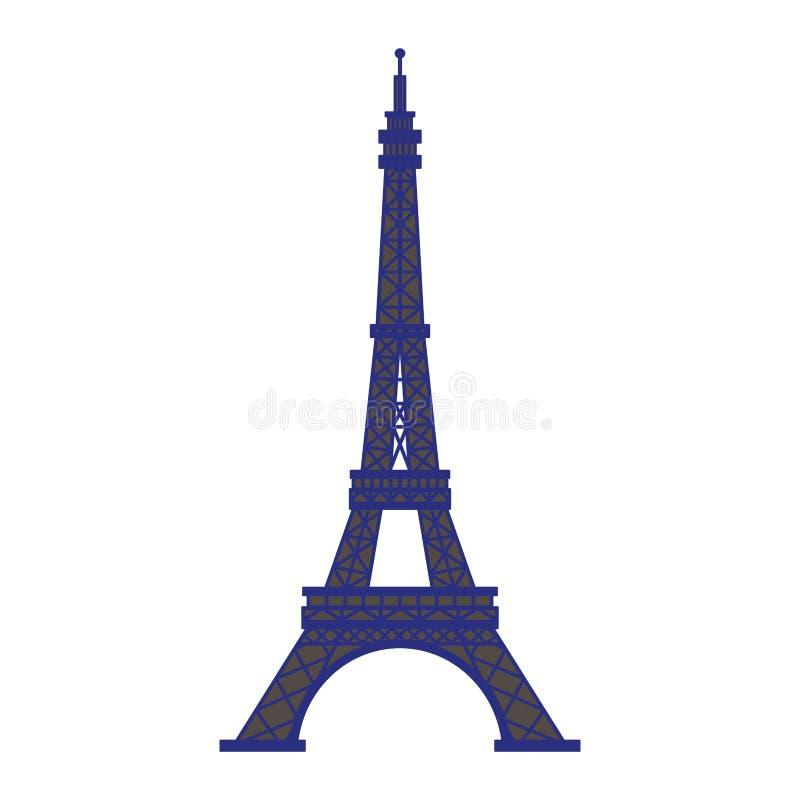 Wieży Eiflej Paris zabytku odosobniona wektorowa ilustracja ilustracja wektor