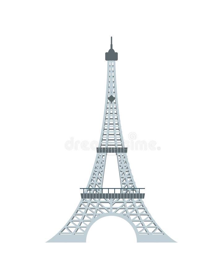 Wieży Eiflej piękna architektura w Paris royalty ilustracja
