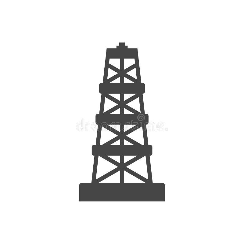Wieży wiertniczej ikona ilustracja wektor