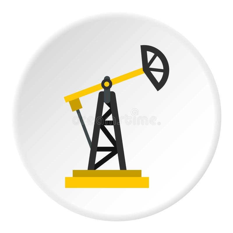 Wieży wiertniczej ikony okrąg ilustracji