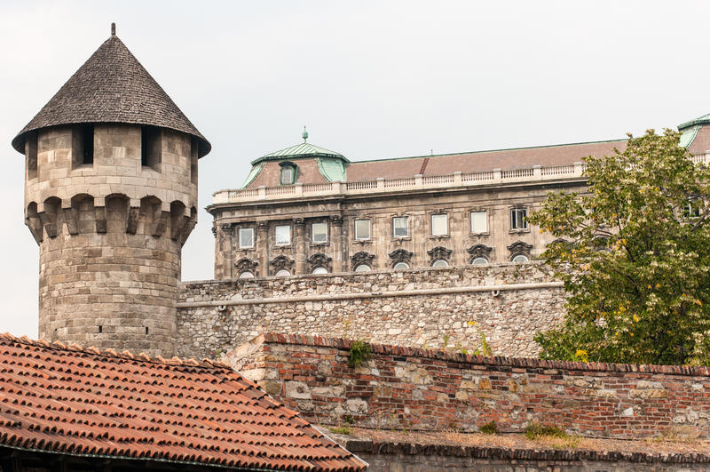 Wieżyczka & pałac, Buda, Węgry obrazy stock