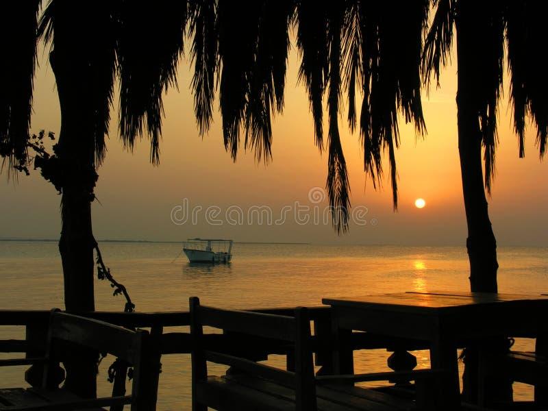 Wie caribian Sonnenaufgang stockfoto