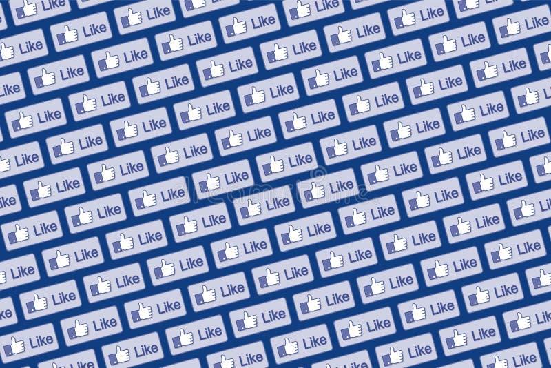Wie Facebook-Logowand 2 vektor abbildung